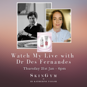 Instagram Live with Dr Des Fernandes – Thursday 21st January 6pm