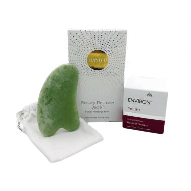 Hayo'u Jade Beauty Restorer Facial Massage Tool and Environ Revival Masque Exclusive at SkinGym